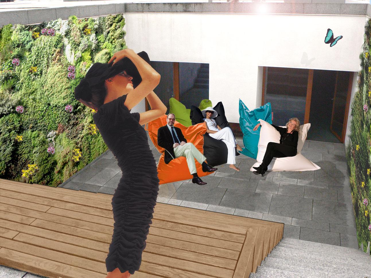 Dachterrasse mit Vertical Gardens