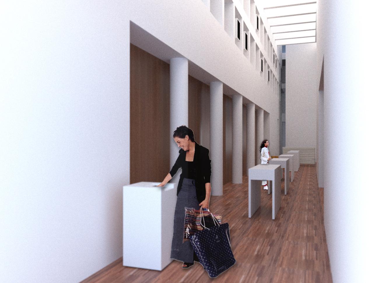 Foyer seitlicher Bereich